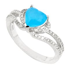 925 silver 3.17cts natural chalcedony topaz heart ring size 7.5 a94547 c24890