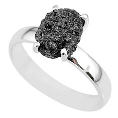 925 silver 2.77cts natural diamond rough solitaire ring jewelry size 7 r91964