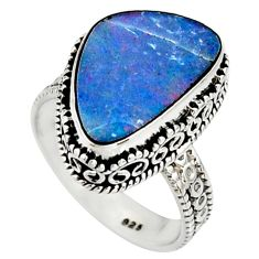 925 silver 6.56cts natural doublet opal australian solitaire ring size 8 r22710