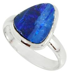 925 silver 4.69cts natural doublet opal australian solitaire ring size 8 r39279