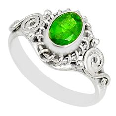 925 silver 1.47cts natural green chrome diopside solitaire ring size 6 r82432