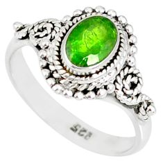 925 silver 1.43cts natural green chrome diopside solitaire ring size 7 r82268