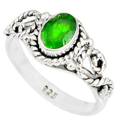 925 silver 1.47cts natural green chrome diopside solitaire ring size 7 r82276