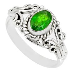 925 silver 1.52cts natural green chrome diopside solitaire ring size 7 r82436