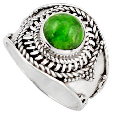 925 silver 3.15cts natural green chrome diopside solitaire ring size 8 d46226