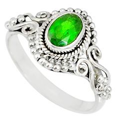 925 silver 1.51cts natural green chrome diopside solitaire ring size 8 r82280