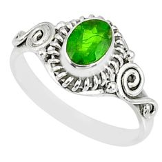 925 silver 1.51cts natural green chrome diopside solitaire ring size 8 r82429