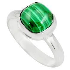 925 silver 3.30cts natural green malachite solitaire ring size 7 r26388