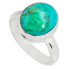 925 silver 4.84cts natural green opaline solitaire ring jewelry size 7 r19390