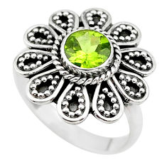 925 silver 1.15cts natural green peridot solitaire ring jewelry size 7 t19858