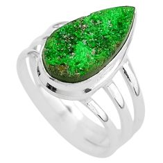 925 silver 5.97cts natural green uvarovite garnet solitaire ring size 8 t2033
