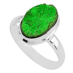 925 silver 4.82cts natural green uvarovite garnet solitaire ring size 9 t2028