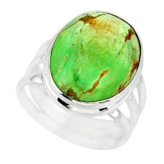 925 silver 14.23cts natural green variscite solitaire ring jewelry size 7 r83628
