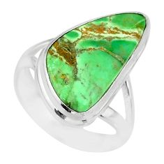 925 silver 11.23cts natural green variscite solitaire ring jewelry size 7 r83637