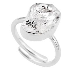 925 silver 5.95cts natural herkimer diamond fancy adjustable ring size 6 t49029