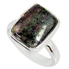 925 silver 5.58cts natural honduran matrix opal solitaire ring size 7.5 r34364