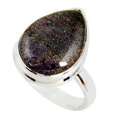 925 silver 14.23cts natural honduran matrix opal solitaire ring size 8.5 r34379