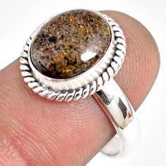 925 silver 5.23cts natural honduran matrix opal solitaire ring size 8.5 r76020