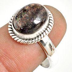 925 silver 5.11cts natural honduran matrix opal solitaire ring size 8.5 r76033