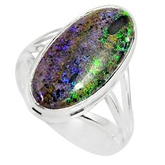 925 silver 9.47cts natural honduran matrix opal solitaire ring size 8.5 r80324