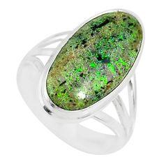 925 silver 9.07cts natural honduran matrix opal solitaire ring size 7.5 r80332