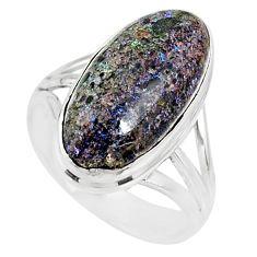 925 silver 9.47cts natural honduran matrix opal solitaire ring size 8.5 r80358