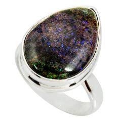 925 silver 13.70cts natural honduran matrix opal solitaire ring size 7 r34357