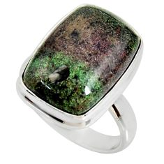 925 silver 10.73cts natural honduran matrix opal solitaire ring size 7 r34374