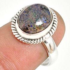 925 silver 5.23cts natural honduran matrix opal solitaire ring size 7 r76057