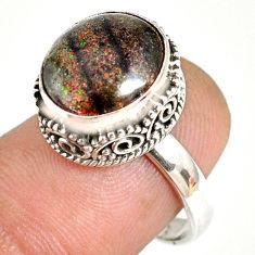 925 silver 5.07cts natural honduran matrix opal solitaire ring size 7 r76089