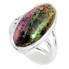 925 silver 9.09cts natural honduran matrix opal solitaire ring size 7 r80339
