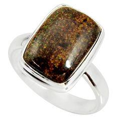 925 silver 7.00cts natural honduran matrix opal solitaire ring size 8 r34345