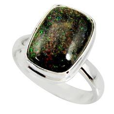 925 silver 6.04cts natural honduran matrix opal solitaire ring size 8 r34360