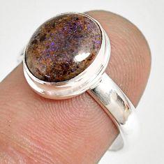 925 silver 5.03cts natural honduran matrix opal solitaire ring size 8 r76008