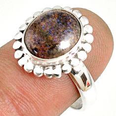 925 silver 5.54cts natural honduran matrix opal solitaire ring size 8 r76052