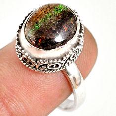 925 silver 5.30cts natural honduran matrix opal solitaire ring size 8 r76085