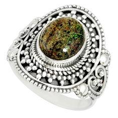 925 silver 4.55cts natural honduran matrix opal solitaire ring size 8 r77687
