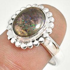 925 silver 5.11cts natural honduran matrix opal solitaire ring size 9 r76004