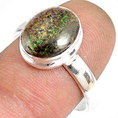 925 silver 5.06cts natural honduran matrix opal solitaire ring size 9 r76048
