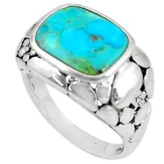 925 silver 4.49cts natural kingman turquoise solitaire ring size 6.5 c10602