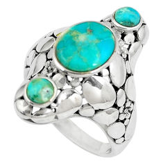 925 silver 4.91cts natural kingman turquoise solitaire ring size 8.5 c10664