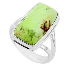 925 silver 9.74cts natural lemon chrysoprase solitaire ring size 7 r95776