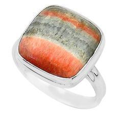 925 silver 16.10cts natural orange celestobarite solitaire ring size 10 r95800