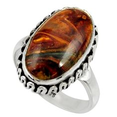 925 silver 9.32cts natural pietersite (african) solitaire ring size 7.5 r28200