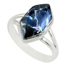 925 silver 5.79cts natural pietersite (african) solitaire ring size 8.5 r80214