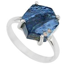 925 silver 5.13cts natural pietersite (african) solitaire ring size 6 r82054
