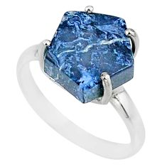 925 silver 5.54cts natural pietersite (african) solitaire ring size 7 r82031