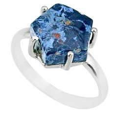 925 silver 5.20cts natural pietersite (african) solitaire ring size 8 r82027