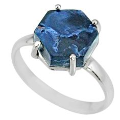 925 silver 5.13cts natural pietersite (african) solitaire ring size 8 r82049