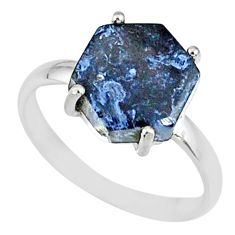 925 silver 5.15cts natural pietersite (african) solitaire ring size 8 r82053
